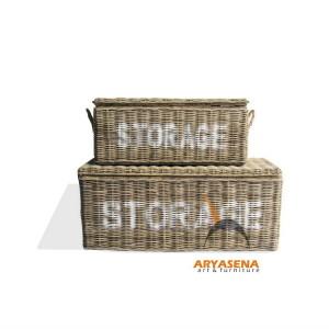 AL BS 09 Nowra Storage Box Set of 2  122x48x50