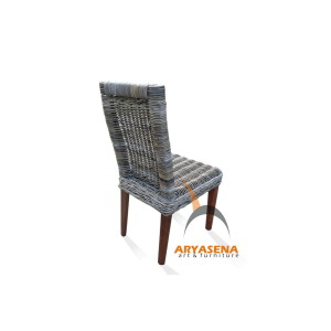 KBC 009 Cancun Dining Chair - kubu grey view 2