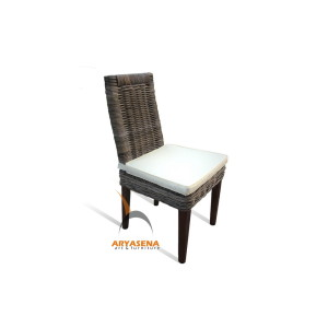 KBC 009 Cancun Dining Chair - kubu grey with cushion