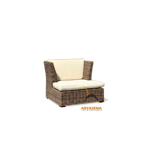 KBS 01B Hawai Sofa 1 Seater - Kubu Grey