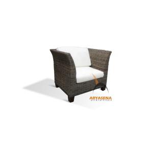 KBS 04A Bahary Arm Chair - Half Kubu
