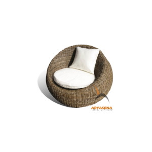 KBS 05A Egg Arm Chair - Half Kubu Grey