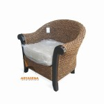 KT 11 - Sofa 1 Seater Water Hyacinth