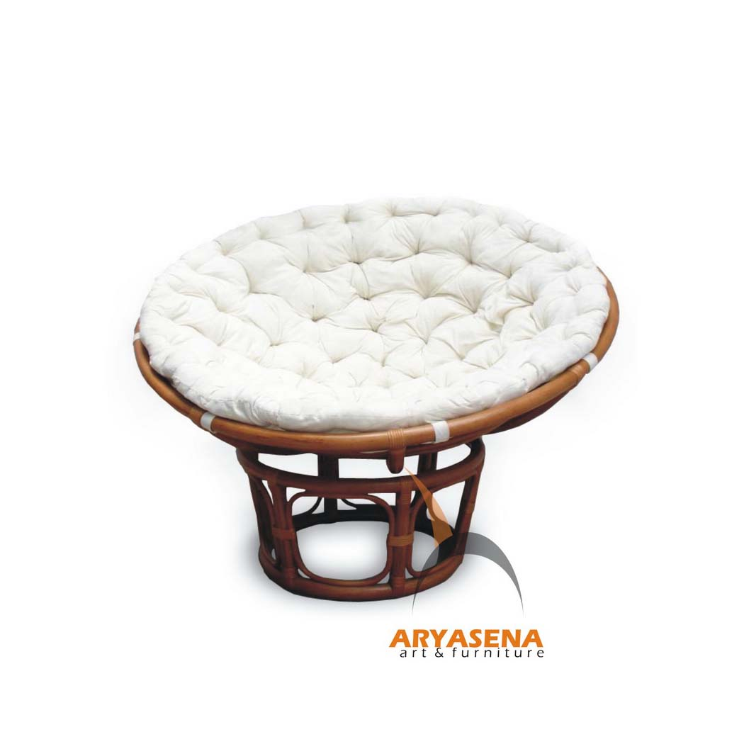 papasan chair with white cushion wicker furniture