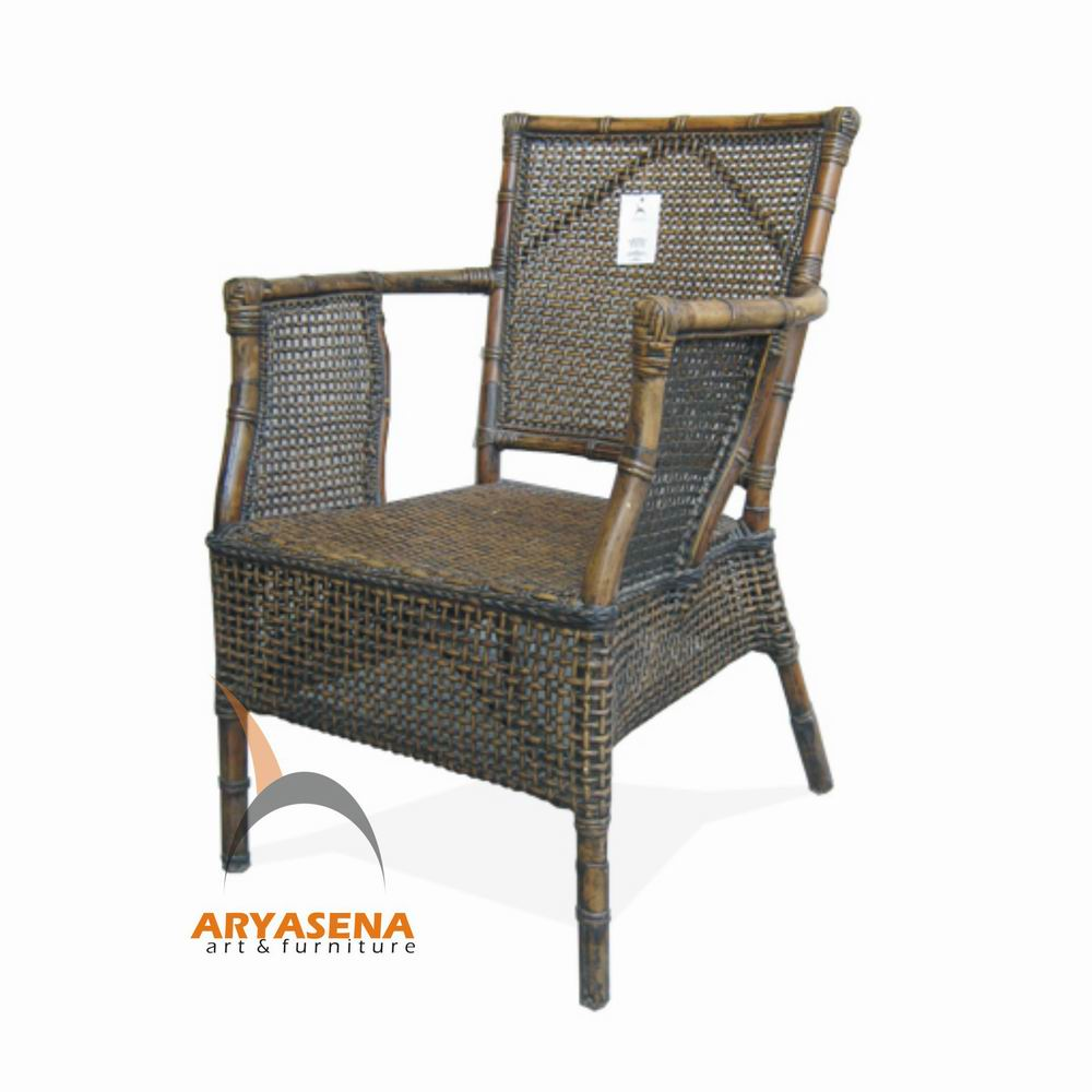 Rattan Furniture Dining Chair With Arms