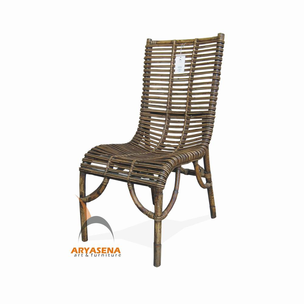 WICKER WOOD DINING CHAIRS Chair Pads Cushions