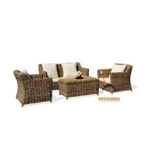 KBS 02D Ponte Sofa Set - Kubu Grey