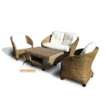KBS 03 - Veranda Sofa Set Half Kubu Grey