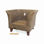 SKR 24 - Sofa 1 Seater Rattan